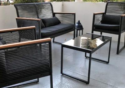 Hotel Victoria : une terrasse couverte calme