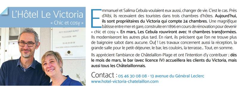 hotel chatelaillon avis presse